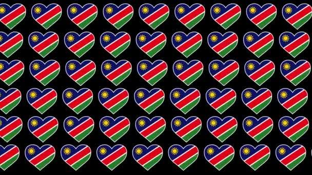 Namibia Pattern Love flag design background