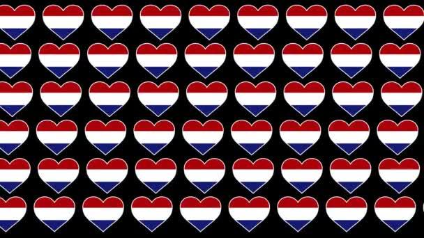 Netherlands Pattern Love flag design background