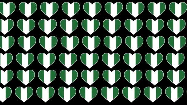 Nigeria Pattern Love flag design background