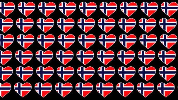 Norway Pattern Love flag design background