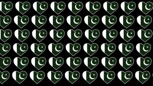 Pakistan Pattern Love flag design background