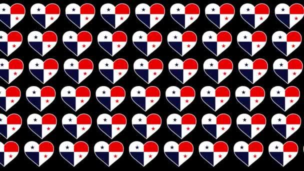 Panama Pattern Love flag design background