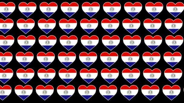 Paraguay Pattern Love flag design background