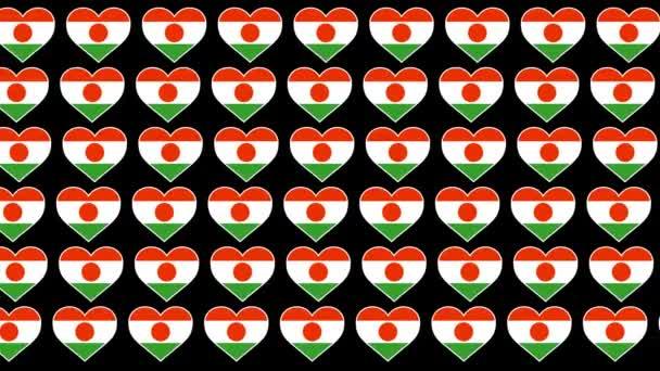 Niger Pattern Love flag design background
