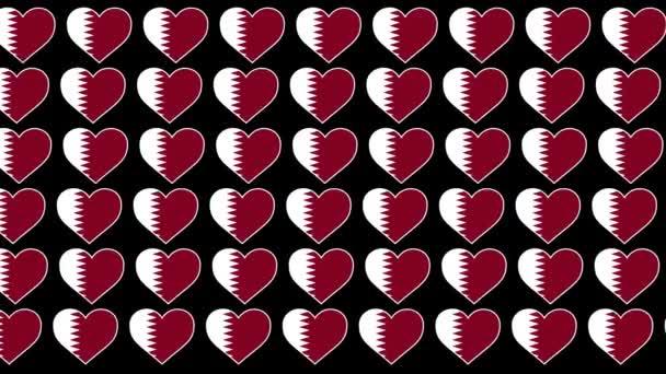Qatar Pattern Love flag design background