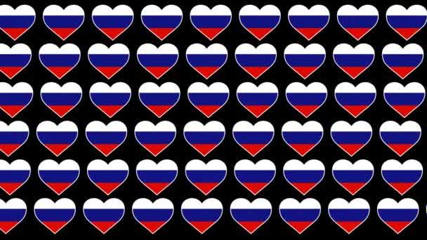 Russia Pattern Love flag design background
