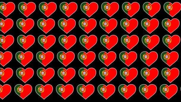 Portugal Pattern Love flag design background