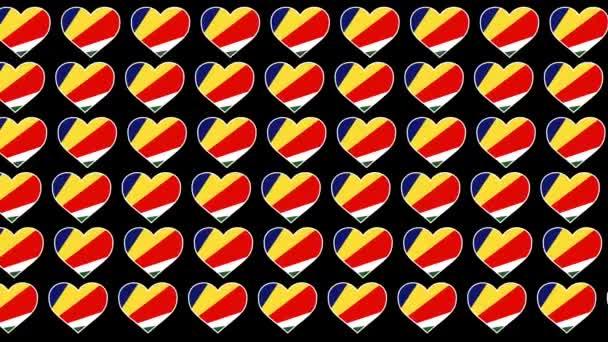 Seychelles Pattern Love flag design background
