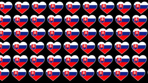 Slovakia Pattern Love flag design background