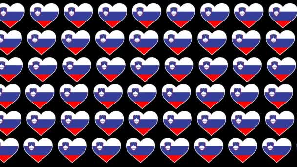 Slovenia Pattern Love flag design background