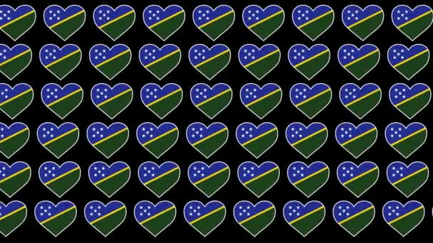 Solomon Islands Pattern Love flag design background