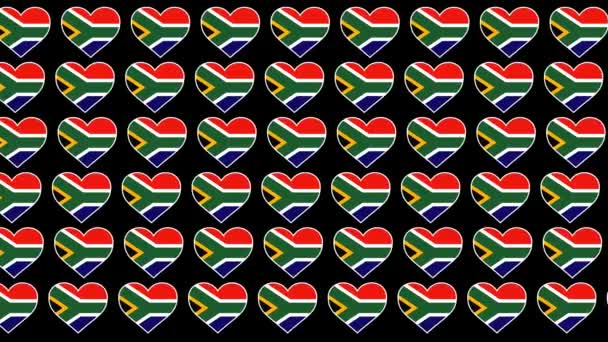 South Africa Pattern Love flag design background