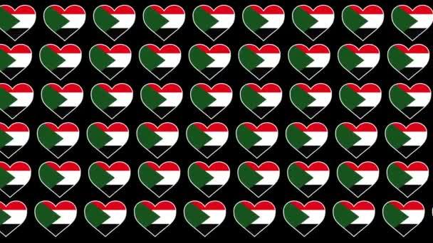 Sudan Pattern Love flag design background
