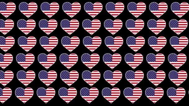 the United States ��Pattern Love flag design background