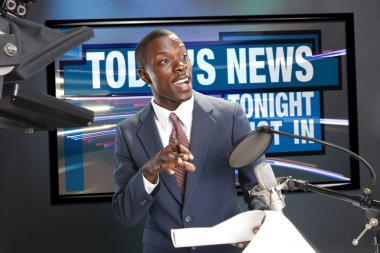 TV or Radio news anchor