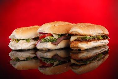 Three popular sandwiches