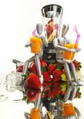 Fruits, dummies and blender