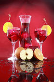 Carafe and sangria in glasses