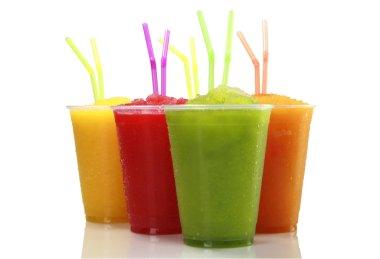 Frozen fruit juice shakes