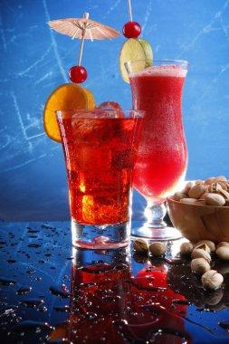 Cocktails with pistachio