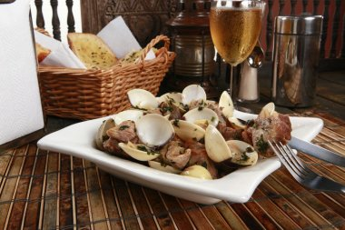Traditional Portuguese pork & clams