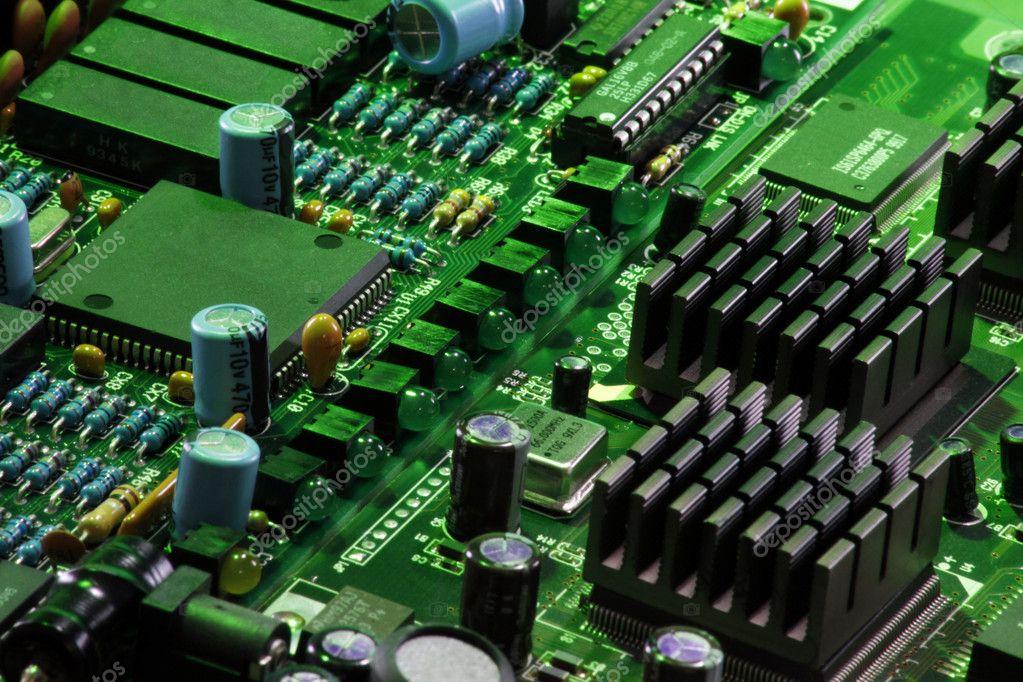 Computer circuitry close up — Stock Photo © Redav #64585377