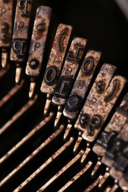 Vintage typewriter keys stock vector