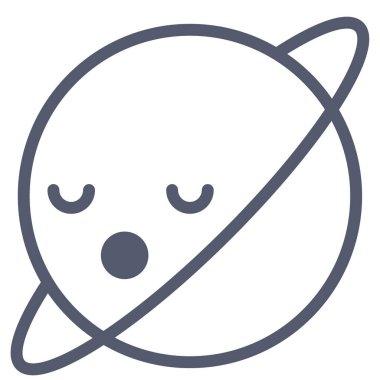 Neptune icon, vector illustration isolated on white background