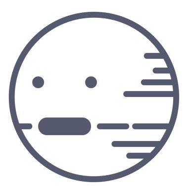 Uranus icon, vector illustration isolated on white background