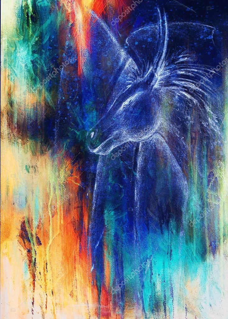 Imágenes Abstractos A Color Lápiz De Dibujo Dragón Y Fondo
