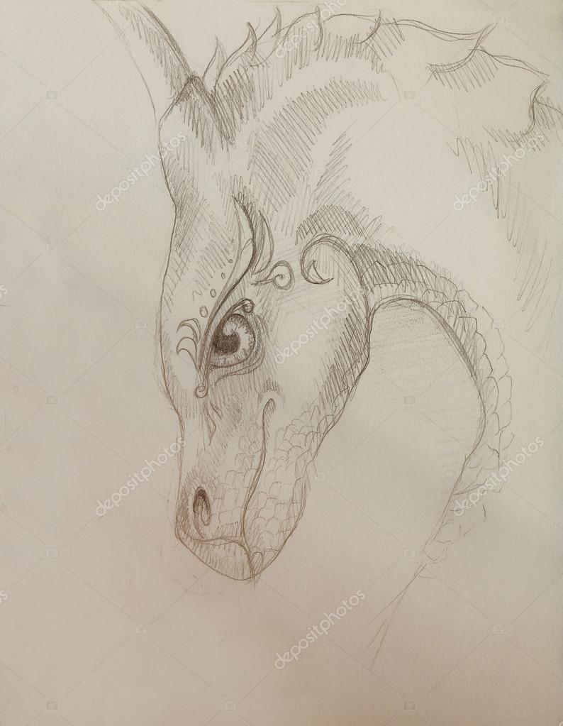 Imágenes Dragones Para Dibujar A Lapiz Lápiz De Dibujo Dragón Y