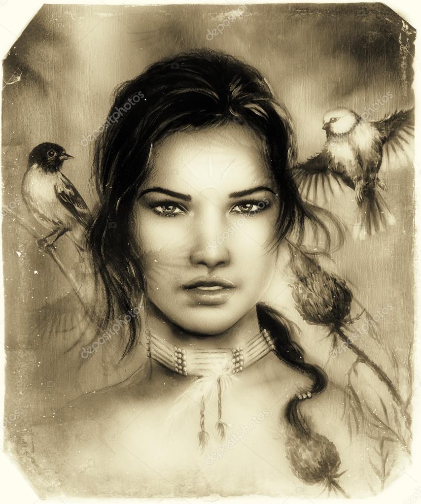 Bellissimo ritratto di un volto di giovane donna indiana for Piani di progettazione domestica indiana con foto