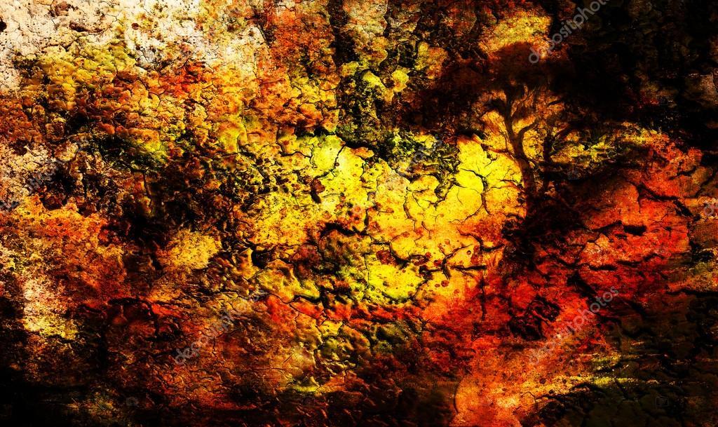 Schilderij zonsondergang zee en boom behang landschap kleur