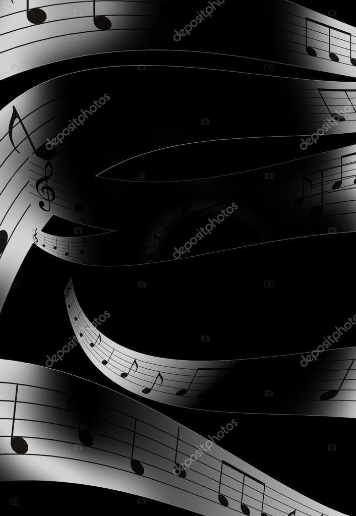 Nota Di Musica E Abstrtact Colore Sfondo Bianco E Nero Foto Stock
