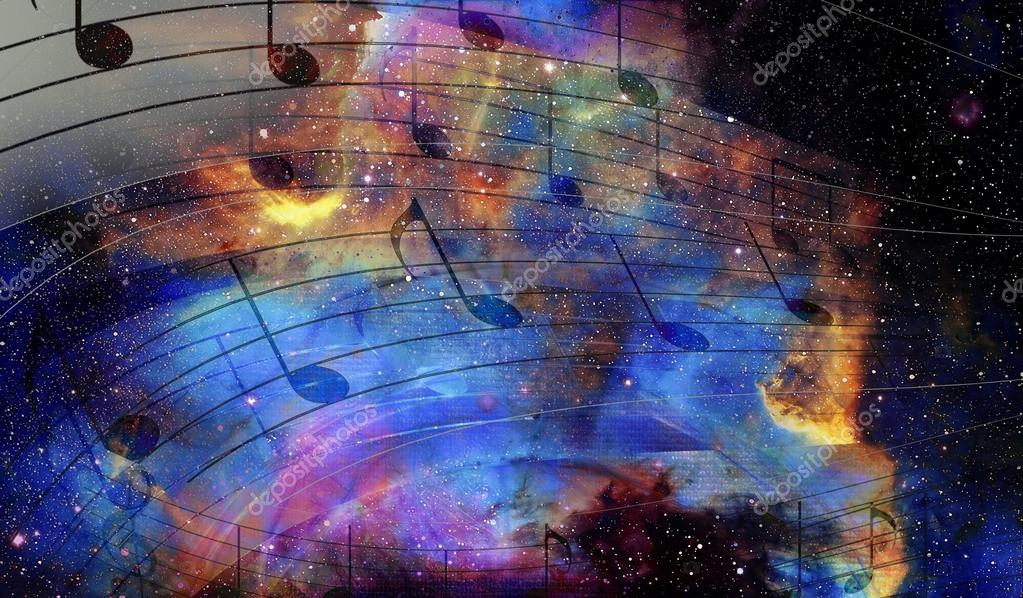 Ноты в космосе картинки