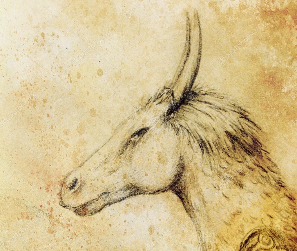 Dibujos Dragones A Lapiz Lápiz De Dibujo Dragón Sobre Fondo De