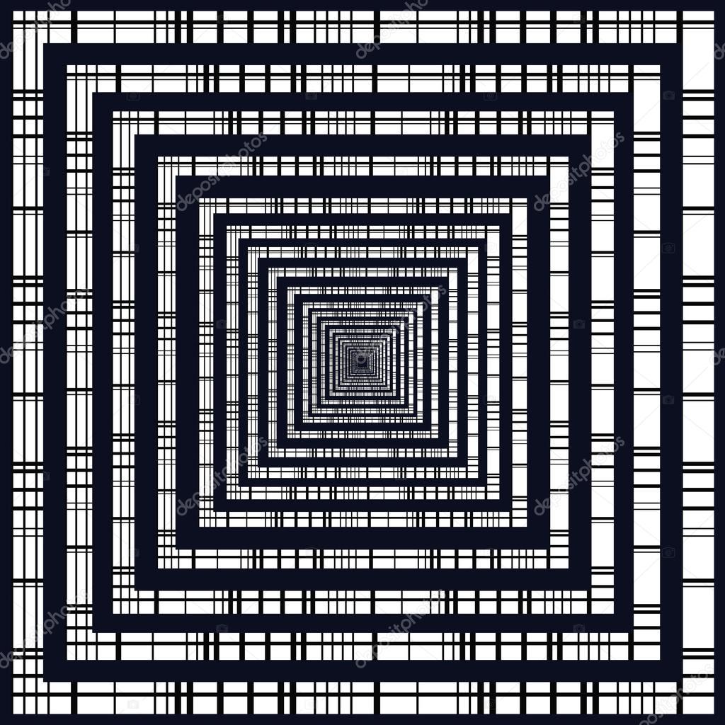 Satz von quadratischen Rahmen. Weißen Rand. Schwarze Streifenmuster ...
