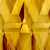 Fotografie Abstract technology background of gold and red polygons and light reflections