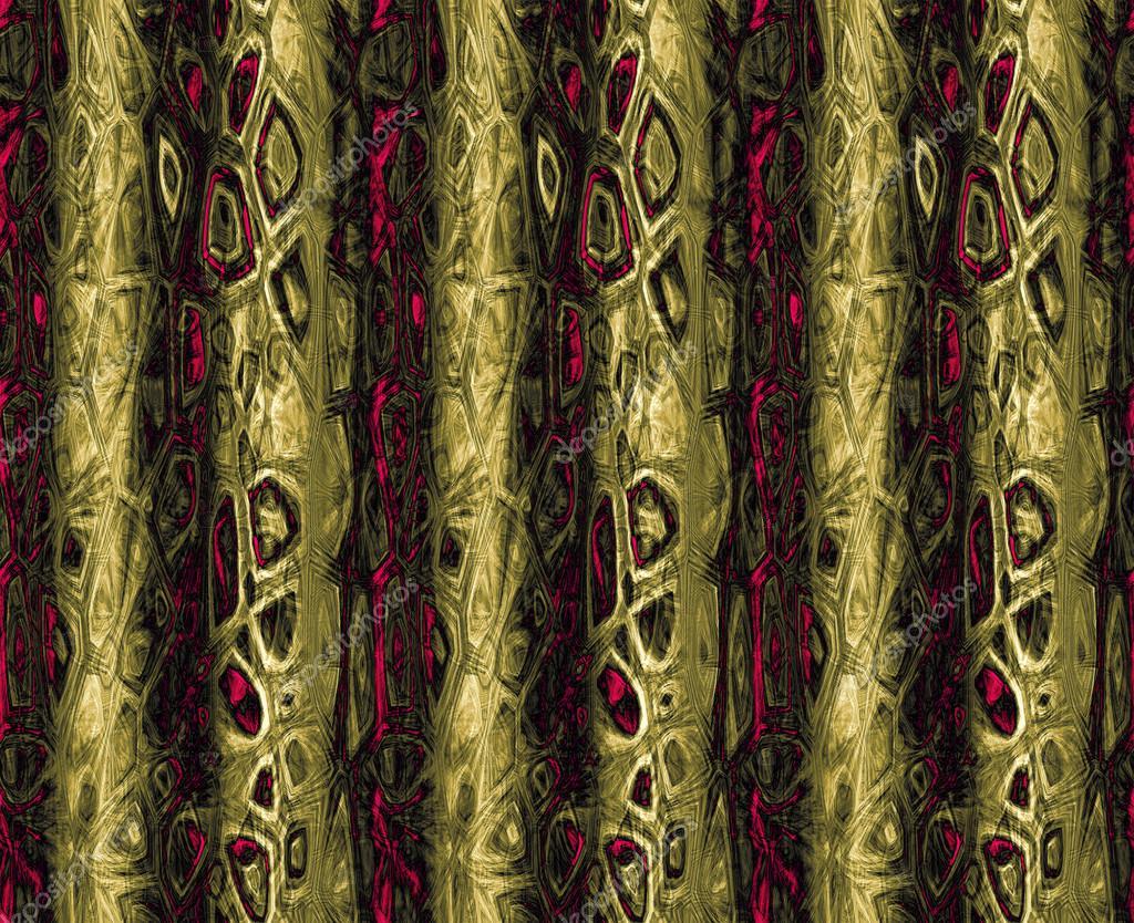 Abstrakte Nahtlose Gold Und Rot Muster Altkanzler Samt Vorhang