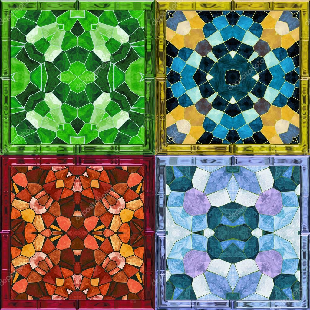 Resumen antecedentes caleidoscópica de Vidrieras mosaico para cuatro ...