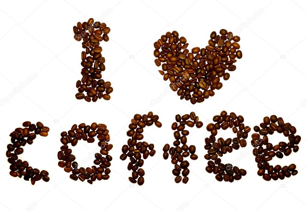 A scattering of fresh and fragrant coffee beans