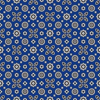 Blue Ajrak Pattern