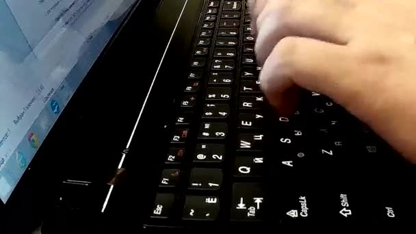 Typing on a laptor keyboard