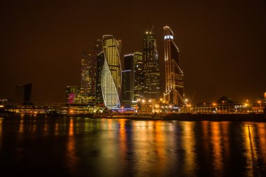 Night view of the Moscow City