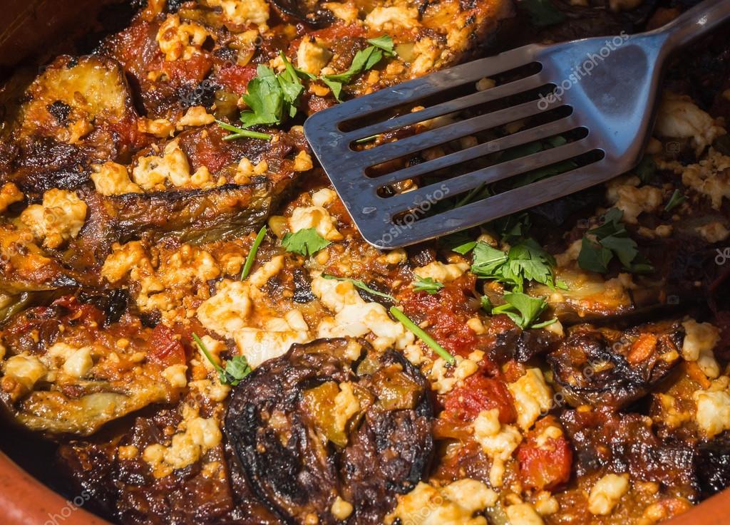 Griechische Küche, Insel Milos, Griechenland — Stockfoto ...