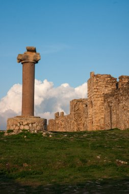 Ruins of fortress of Methoni, Peloponnese, Greece