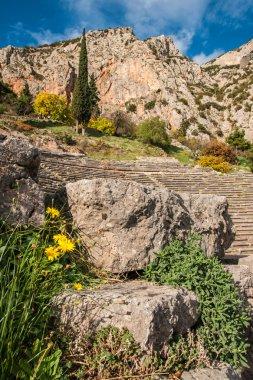 Ruins of ancient greek theatre at Delphi