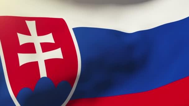 Slovakia flag waving in the wind. Looping sun rises style.  Animation loop