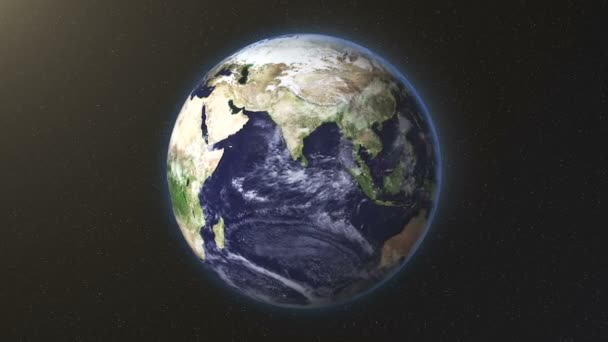 Vereinigte Staaten zoomen auf die Erde