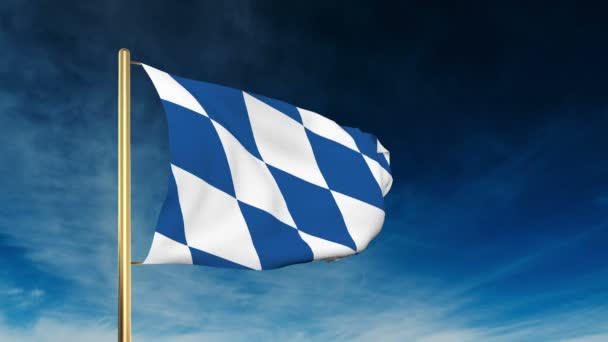 Bavaria flag slider style. Waving in the win with cloud background animation